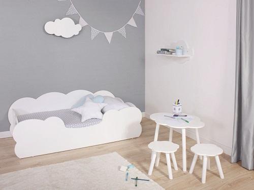 cama Montessori niño nube