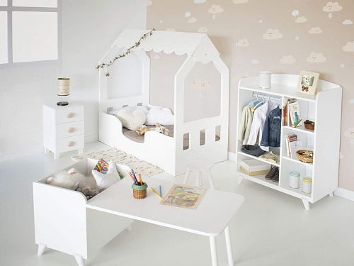 cama casa bebe montessori
