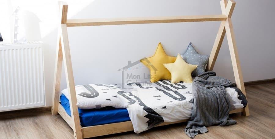 cama casa infantil suelo montessori