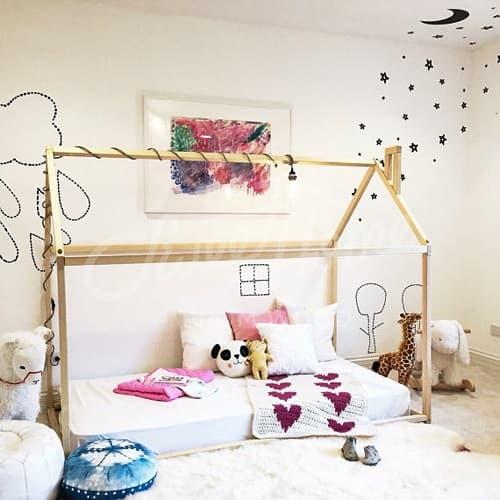 cama casita infantiles montessori