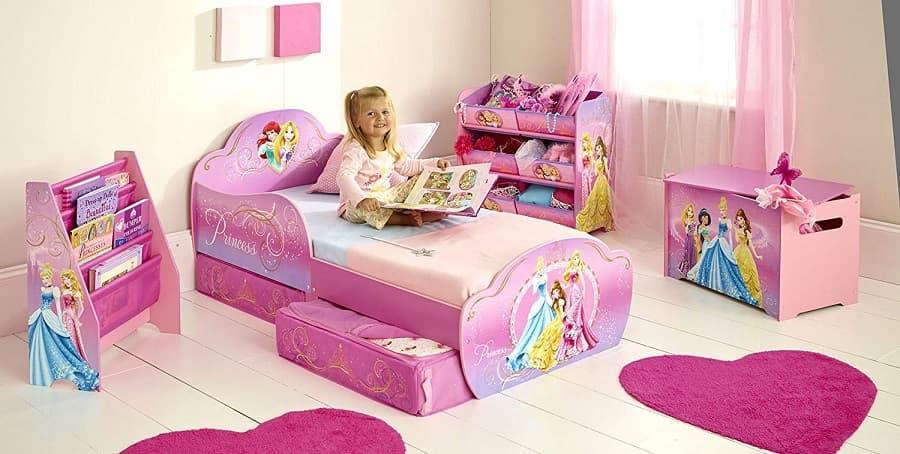 cama infantil bajita niña