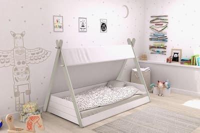 cama infantil casita tipi montessori