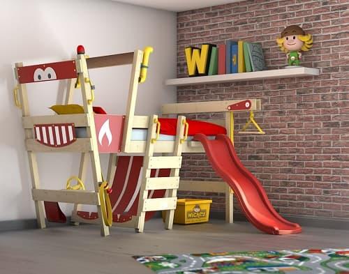 cama infantil con tobogan juegos