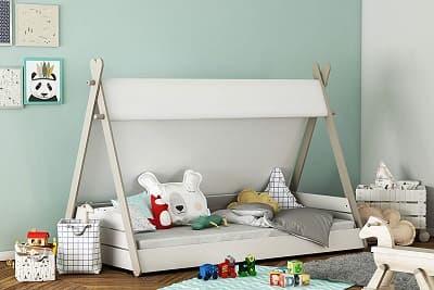 cama niños montessori casita