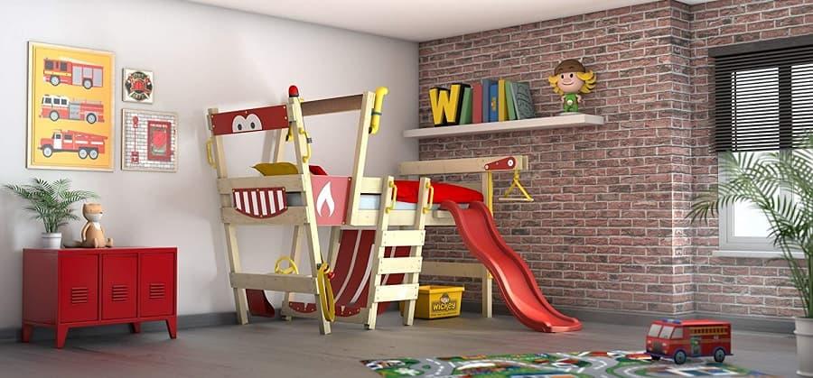 cama para niños con tobogan