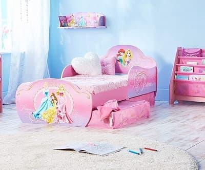 camas niñas bajitas rosas